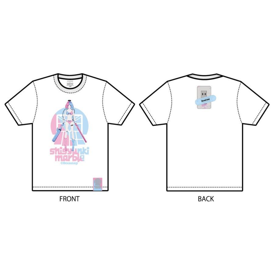 でばうさぎ ERECTRIC GIRL 思春期マーブルTシャツ|shisyunki|04
