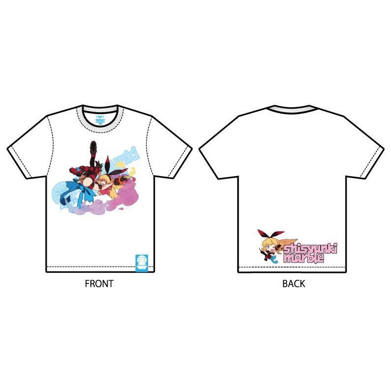 くるみつ Flying bunny girl 思春期マーブルTシャツ|shisyunki|02