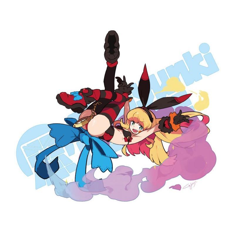 くるみつ Flying bunny girl 思春期マーブルTシャツ|shisyunki|03
