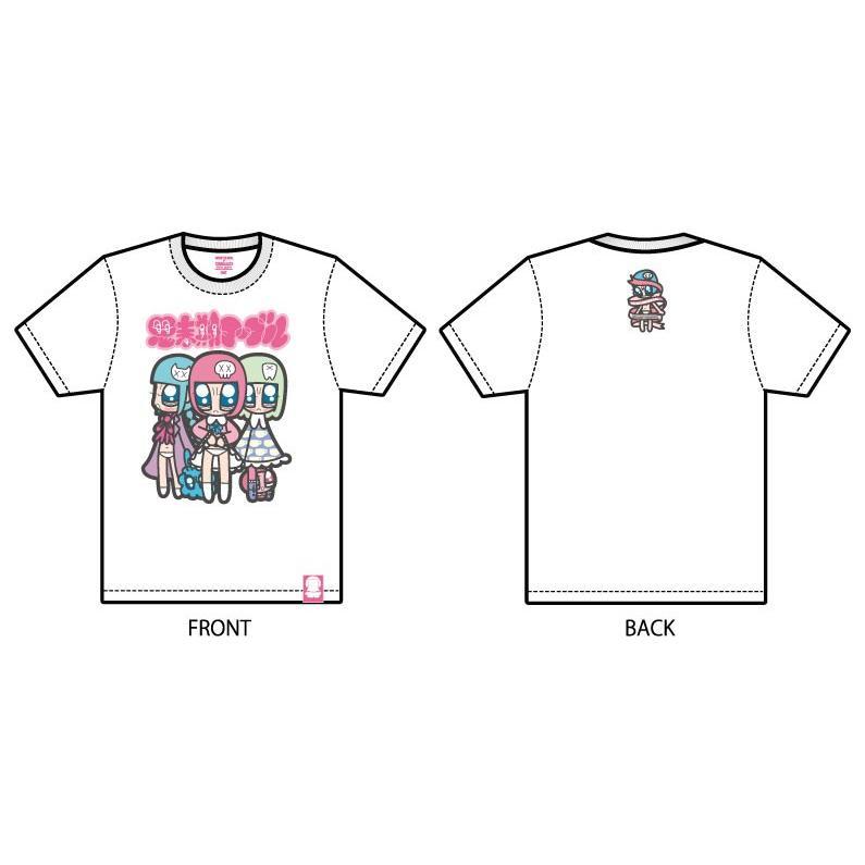 山本シゲトモ Three girls Monster Girl 思春期マーブルTシャツ|shisyunki|02