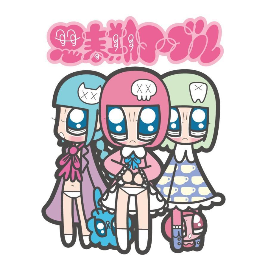 山本シゲトモ Three girls Monster Girl 思春期マーブルTシャツ|shisyunki|03