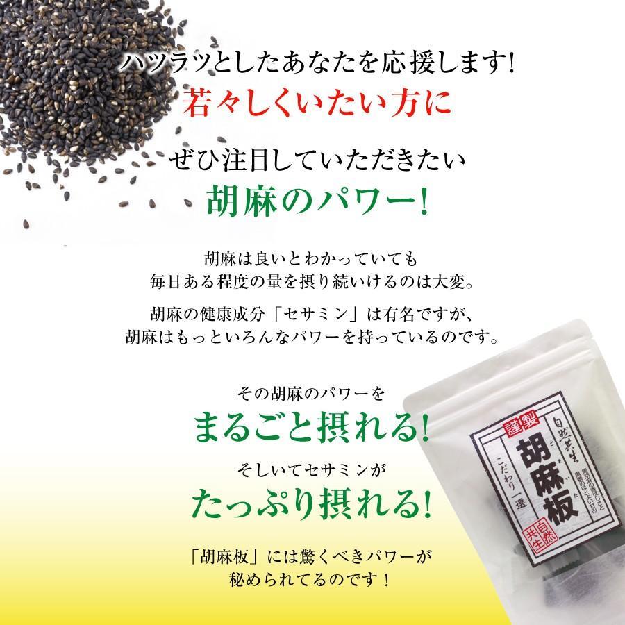 胡麻板 セサミン約7倍!リグナンリッチ黒ごま使用 自然共生 バランス栄養 栄養調整食品 ポイント消化|shizen-kyosei|03
