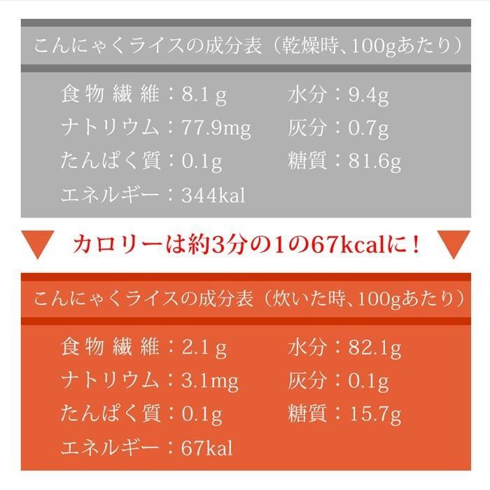 【10%還元】  こんにゃく米 ダイエット食品 こんにゃくご飯 個包装 蒟蒻米 15袋 置き換え 糖質オフ 糖質カット 低カロリー 乾燥 冷凍|shizennomegumi|12