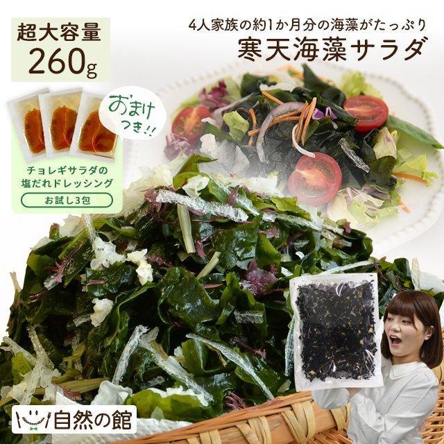 メガ盛り 送料無料 寒天海藻サラダ 260g 味噌汁の具 メガ盛260g 今だけお試しドレッシング付きが選べる サラダ ミネラル ダイエット食品 非常食
