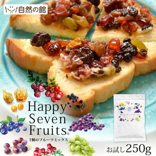 ミックスフルーツ ドライフルーツ ハッピーセブンフルーツ 250g 送料無料 クランベリー レーズン ワイルドブルーベリー 大人女子 映え 非常食 ミネラル