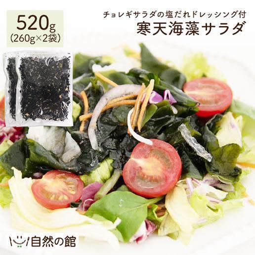 送料無料 寒天 メガ盛り 寒天海藻サラダ 2袋セット 味噌汁の具 メガ盛520g(260g×2) 湯戻し 簡単 まとめ買い ダイエット 業務用 非常食 ミネラル