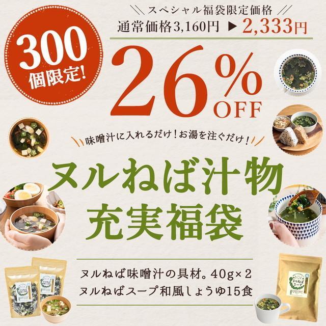 送料無料 ヌルねばスープ 15包 ヌルねば味噌汁の具。 40g×2 自然の館 ぬるねば ヌルネバ 非常食 ミネラル ネバ活 ねば活