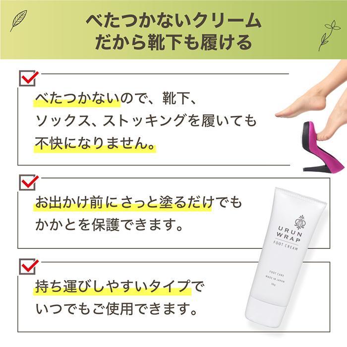 ウルンラップ かかとクリーム 薬用かかとつるつるクリーム 角質ケア かかと ひび割れ ガサガサ 乾燥 保湿|shizenshop|07