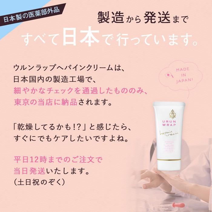 ヘパリン類似物質 クリーム 薬用  顔 体 からだ 乾燥肌 保湿 ハンドクリーム ウルンラップ|shizenshop|16