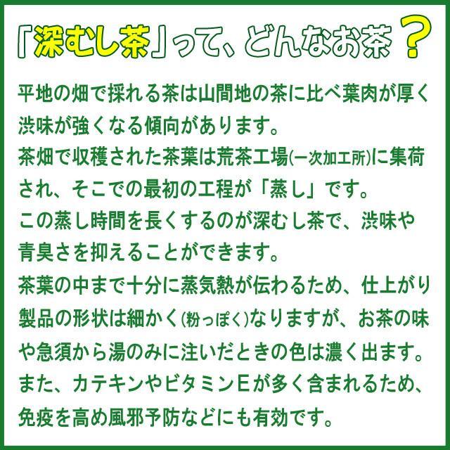 深むし茶 牧之原産 200g×3袋 送料無料|shizuokaochaya|05
