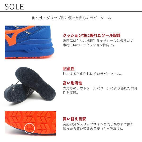 ミズノ mizuno プロテクティブスニーカー 安全作業靴 紐タイプ ALMIGHTY LS? 11L オールマイティLS?11L F1GA2100 メンズ 樹脂先芯|shoesbase2nd|06