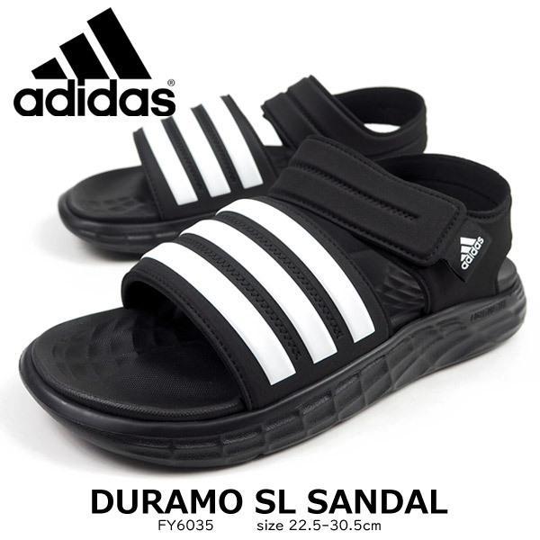 アディダス adidas スポーツサンダル DURAMO SL SANDAL FY6035 メンズ レディース サンダル ジュニア 歩きやすい|shoesbase2nd