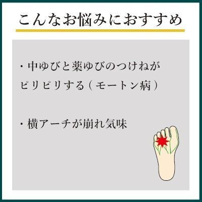 インソールプロ モートン病 対策 アーチパッド 中敷き インソール 衝撃吸収 メンズ shoesfit 03