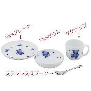 お誕生メモリアルプレート付き子供食器セット[ファミリア×大倉陶園] shokki 05