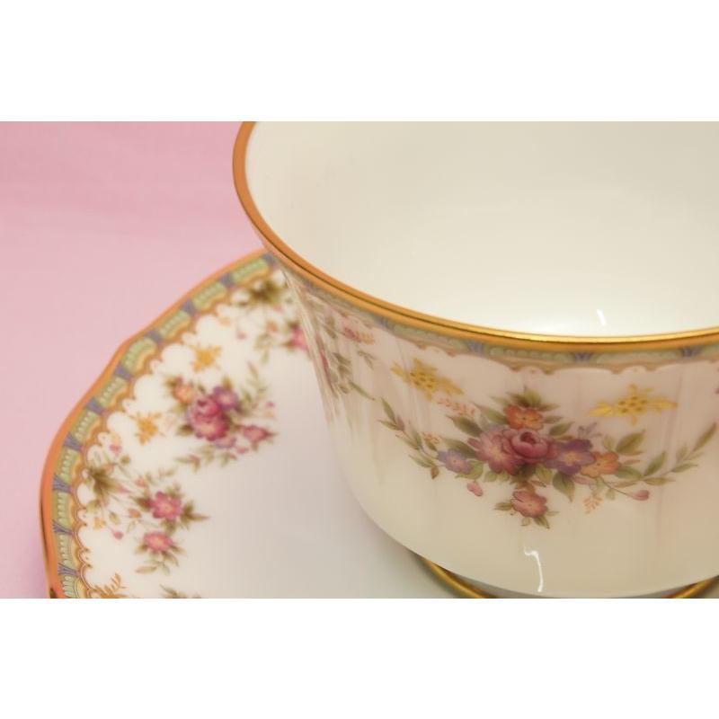 ノリタケ・ダイヤモンドコレクション #5539 ローズパレス ティー・コーヒー碗皿|shokki|02