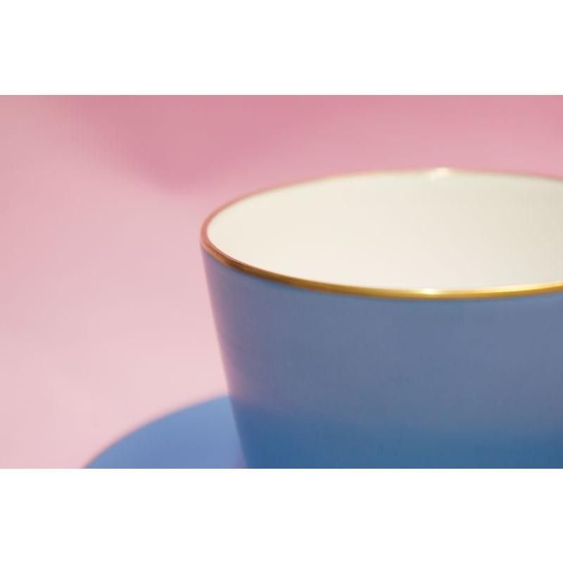 大倉陶園 モーニング碗皿(ブルー蒔き) shokki 02