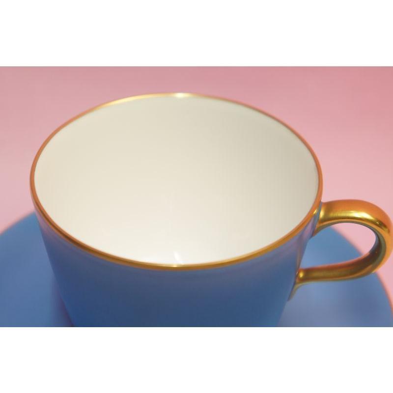 大倉陶園 モーニング碗皿(ブルー蒔き) shokki 03