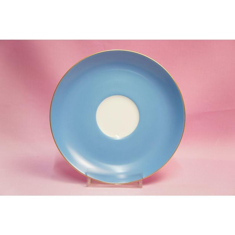 大倉陶園 モーニング碗皿(ブルー蒔き) shokki 05