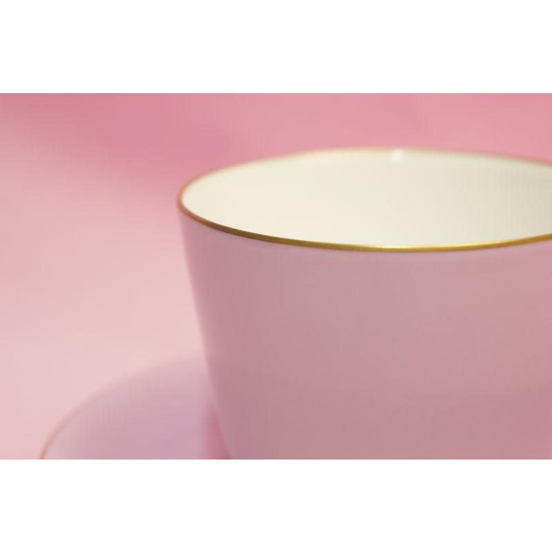 大倉陶園 モーニング碗皿(ライラック蒔き) shokki 02