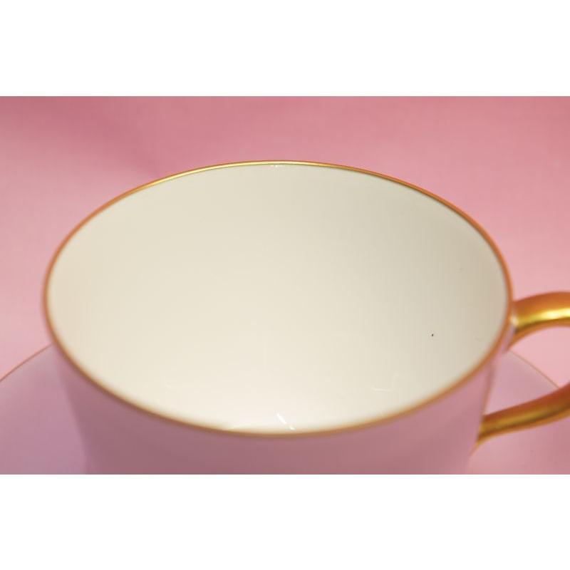 大倉陶園 モーニング碗皿(ライラック蒔き) shokki 03