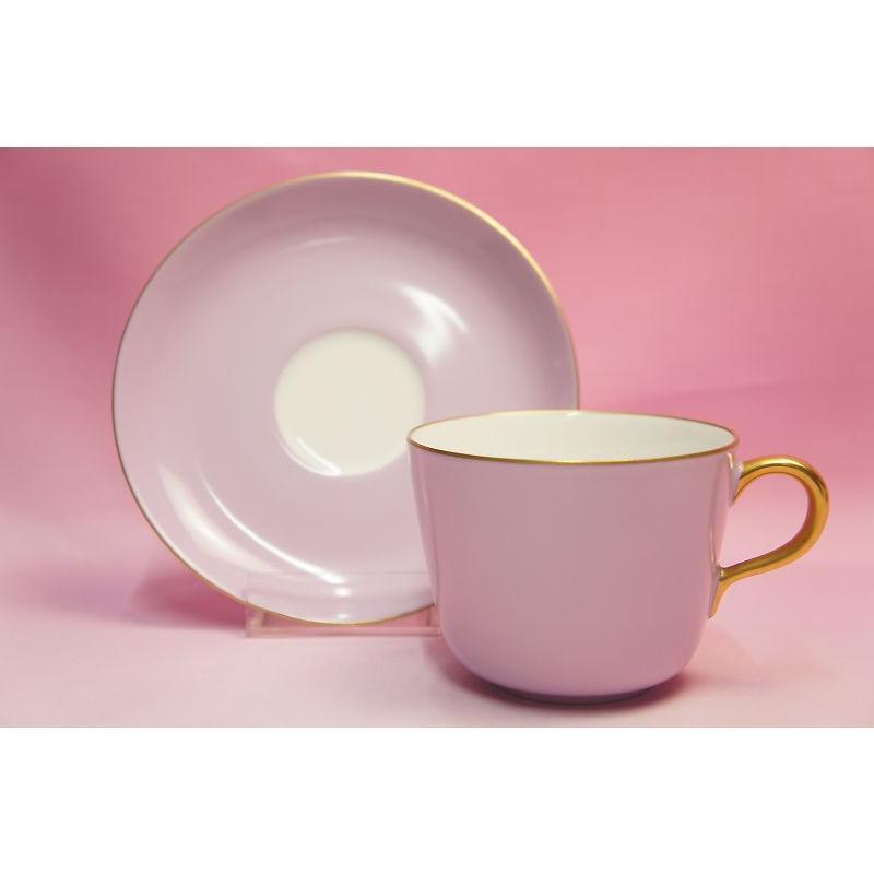 大倉陶園 モーニング碗皿(ライラック蒔き) shokki 06
