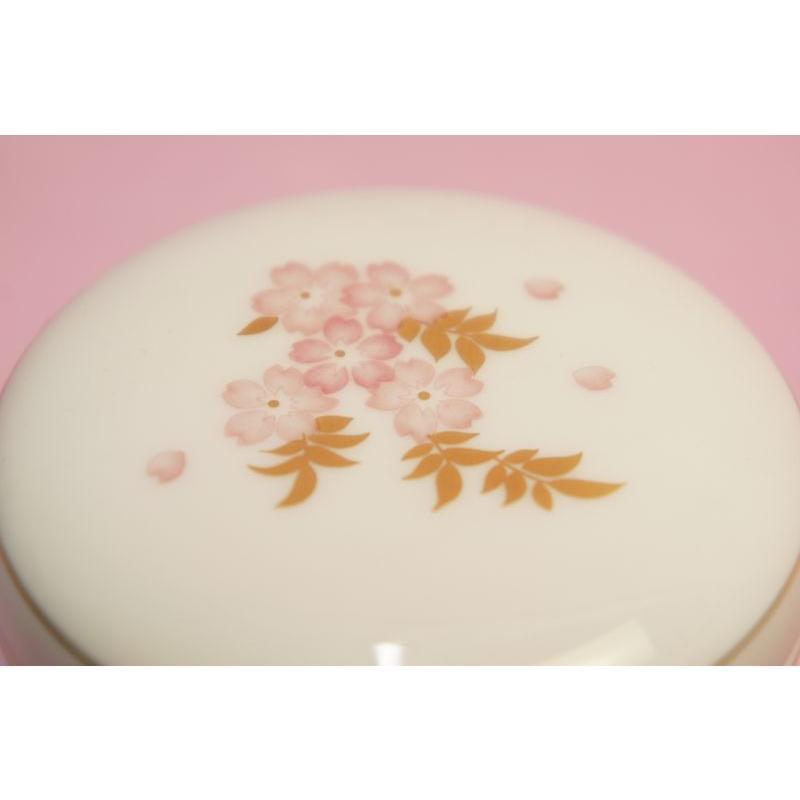 大倉陶園 しだれ桜 蓋物(ボンボニエール) shokki 02