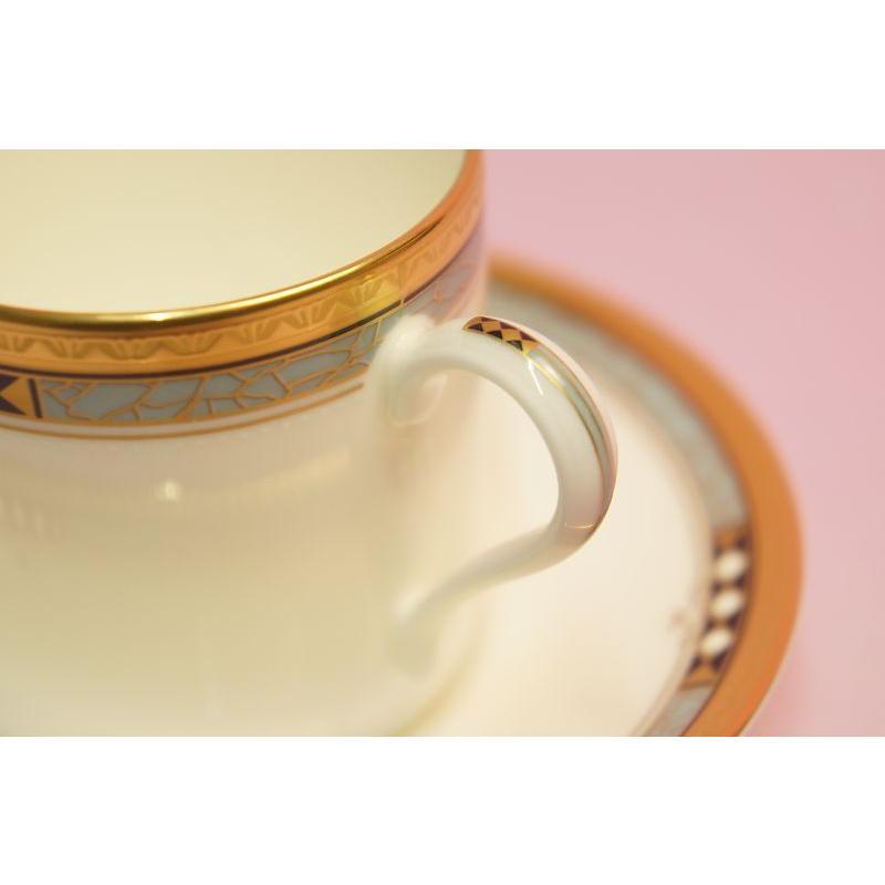 ノリタケ アールデコスタイル コーヒー碗皿|shokki|03
