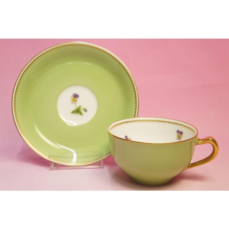 大倉陶園 パンジー ティー碗皿|shokki|08