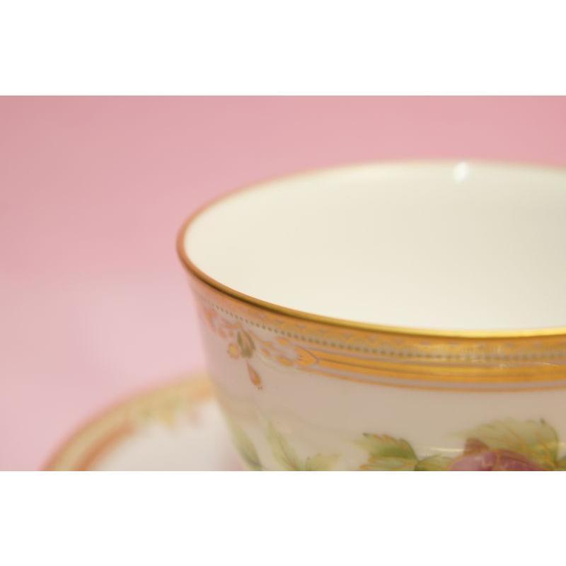 ノリタケ ガラコンテッサ ティー・コーヒー碗皿|shokki|02