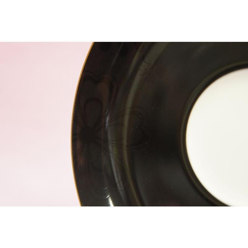 大倉陶園 花あられ モーニング碗皿(黒)|shokki|06