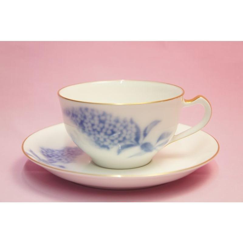 大倉陶園 ハイドランジャー(アジサイ) ティー・コーヒー碗皿 shokki