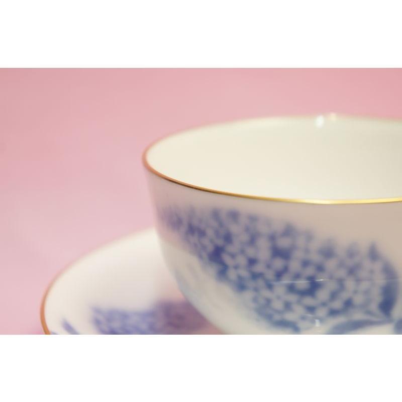 大倉陶園 ハイドランジャー(アジサイ) ティー・コーヒー碗皿 shokki 02