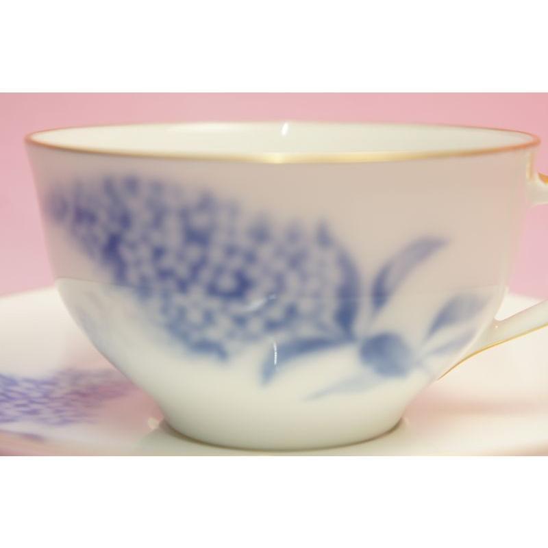 大倉陶園 ハイドランジャー(アジサイ) ティー・コーヒー碗皿 shokki 03
