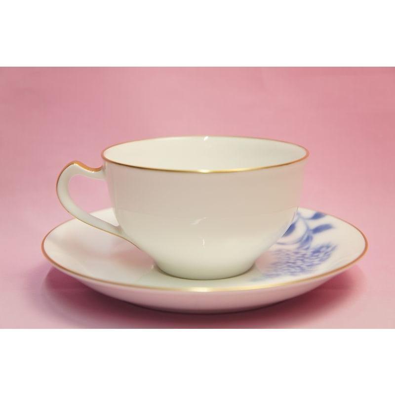 大倉陶園 ハイドランジャー(アジサイ) ティー・コーヒー碗皿 shokki 06
