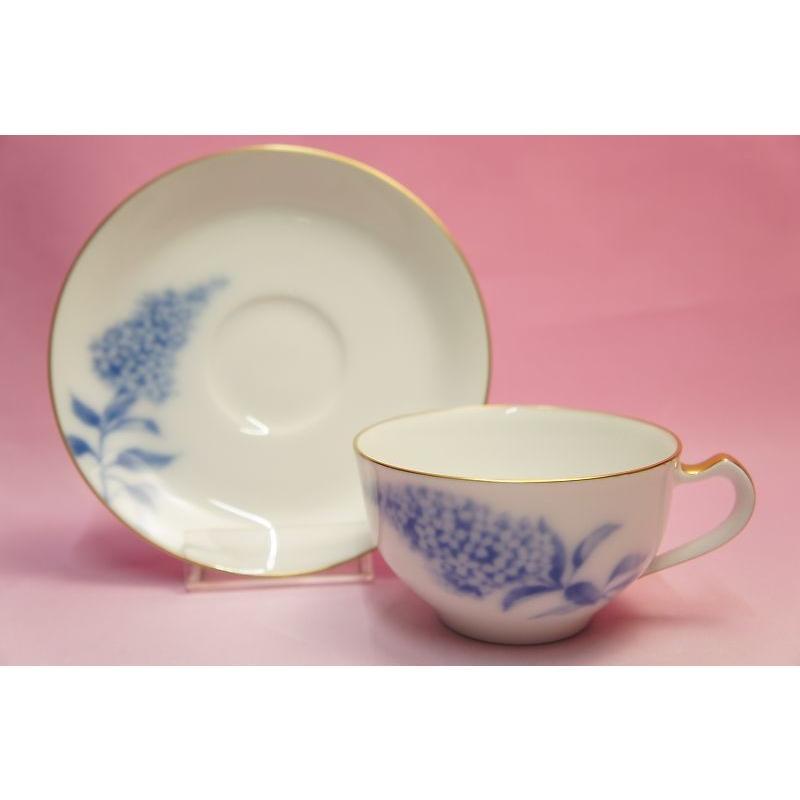 大倉陶園 ハイドランジャー(アジサイ) ティー・コーヒー碗皿 shokki 07