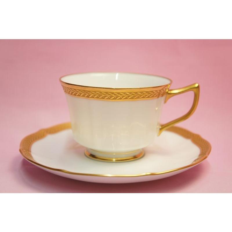 ノリタケ・ダイヤモンドコレクション ♯5536 ゴールデンシンプリシティ ティー・コーヒー碗皿|shokki