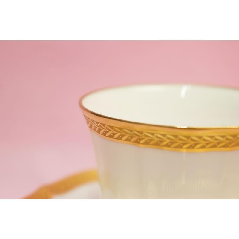 ノリタケ・ダイヤモンドコレクション ♯5536 ゴールデンシンプリシティ ティー・コーヒー碗皿|shokki|02