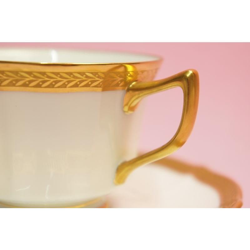ノリタケ・ダイヤモンドコレクション ♯5536 ゴールデンシンプリシティ ティー・コーヒー碗皿|shokki|04