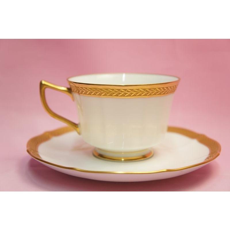 ノリタケ・ダイヤモンドコレクション ♯5536 ゴールデンシンプリシティ ティー・コーヒー碗皿|shokki|06