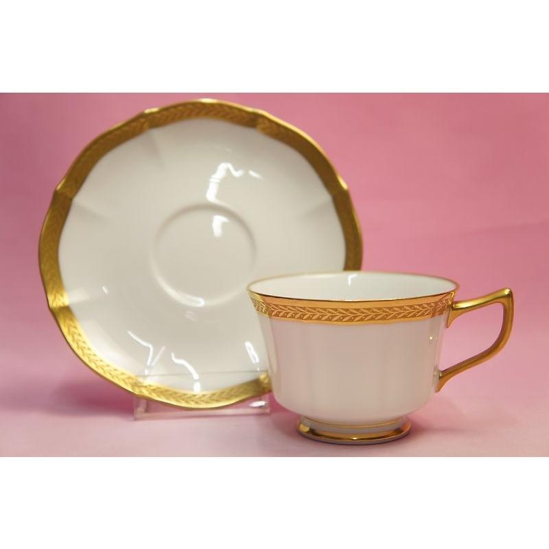 ノリタケ・ダイヤモンドコレクション ♯5536 ゴールデンシンプリシティ ティー・コーヒー碗皿|shokki|07