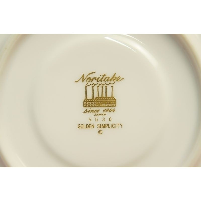 ノリタケ・ダイヤモンドコレクション ♯5536 ゴールデンシンプリシティ ティー・コーヒー碗皿|shokki|08