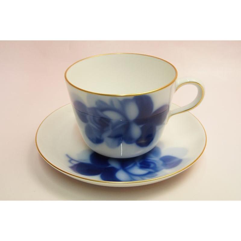 大倉陶園 ブルーローズ モーニング碗皿|shokki