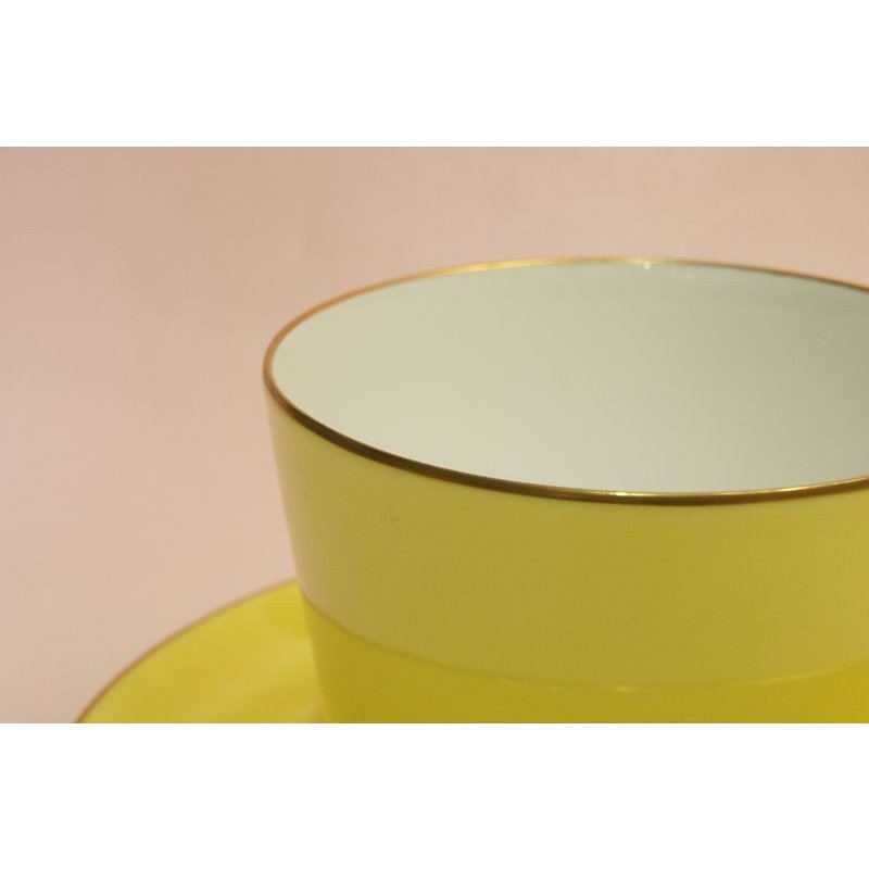 大倉陶園 モーニング碗皿(イエロー蒔き)|shokki|02