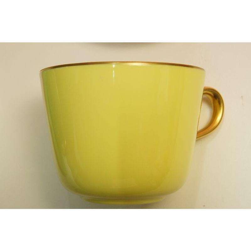 大倉陶園 モーニング碗皿(イエロー蒔き)|shokki|03