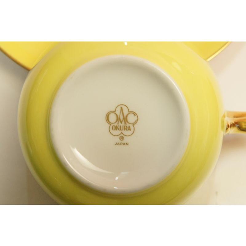 大倉陶園 モーニング碗皿(イエロー蒔き)|shokki|04