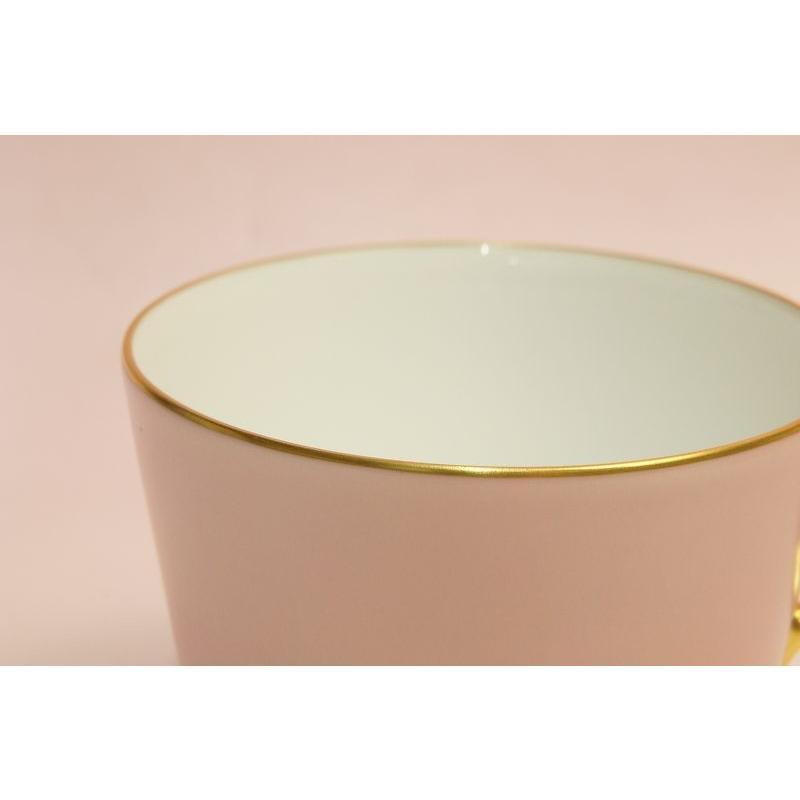 大倉陶園 モーニング碗皿(ピンク蒔き)|shokki|02