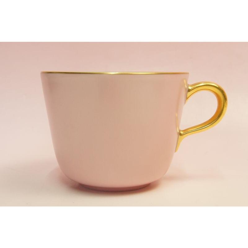 大倉陶園 モーニング碗皿(ピンク蒔き)|shokki|03