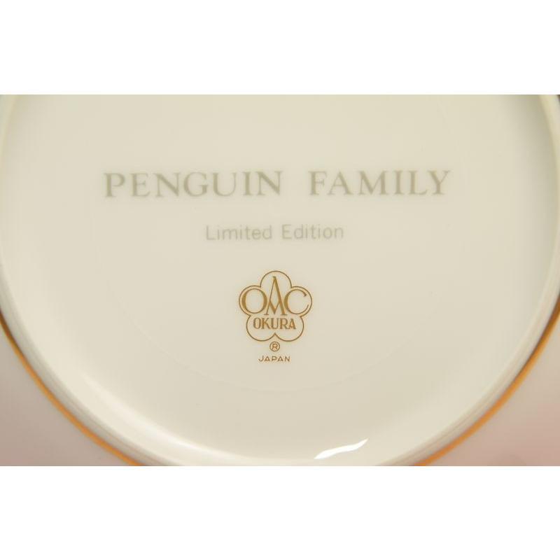 大倉陶園1996年クリスマス碗皿「ペンギン」 shokki 04