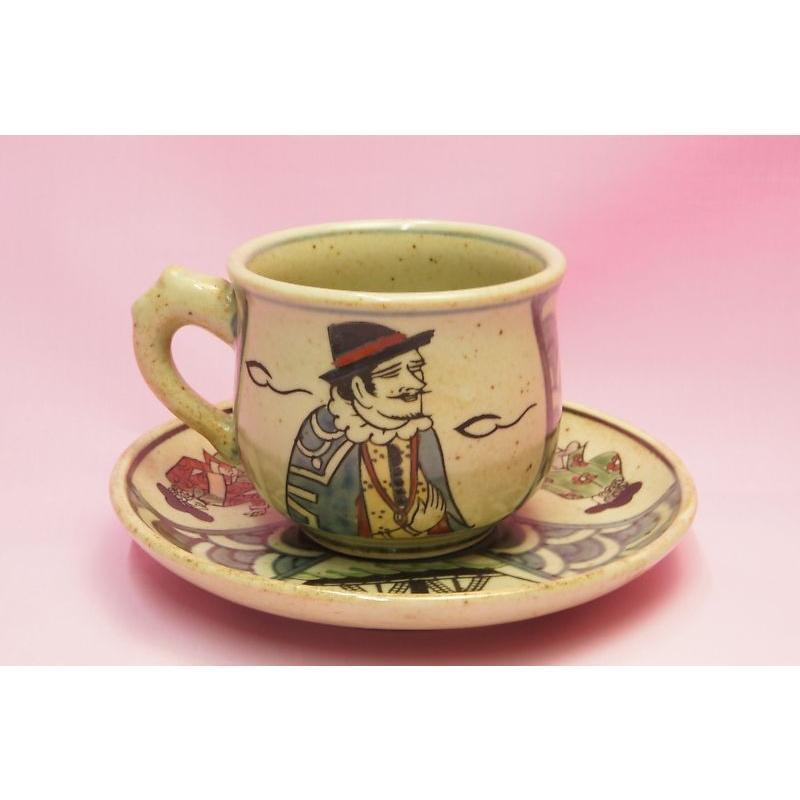 円左ェ門 錦南蛮 コーヒー碗皿|shokki|02
