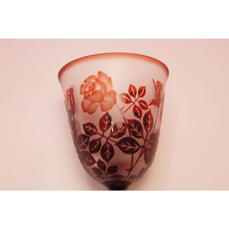 赤バラ ワイングラス|shokki|02